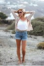 Esprit-shorts-zara-sunglasses-hm-cardigan-h-m-hair-accessory