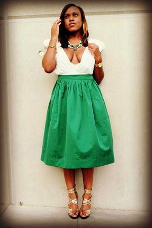 dark green Zara skirt