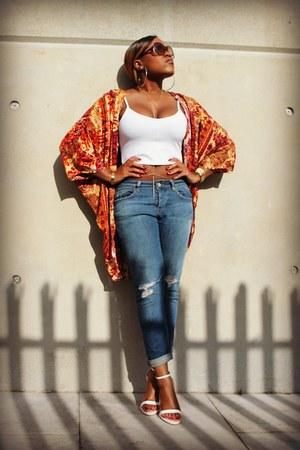 Topshop jeans - Topshop vest - Forever 21 top
