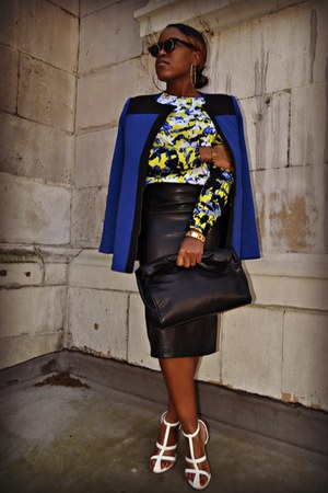 yellow Peter Pilotto top - navy Forever 21 coat