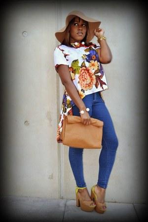 vintage blouse - Topshop jeans - Zara bag - Zara bracelet - Zara necklace