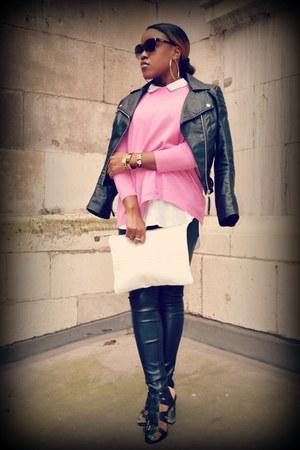 H&M jacket - Zara bag - Moschino sunglasses - Kurt Geiger sandals - H&M pants