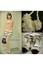 lace shorts - reversible tank top - ruffle necklace new look accessories