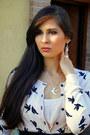 Neutral-h-ampm-dress-black-vintage-bag-silver-bellast-necklace