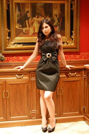 black dress - black Celine B heels