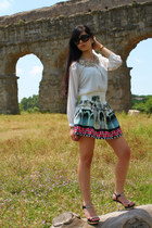white Choies skirt