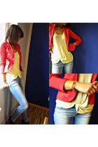 Mohito blazer - Deichmann shoes - pull&bear jeans - Pepco blouse