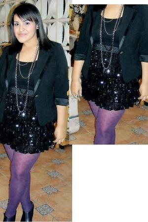 black forever 21 - love 21 blazer - black rainbow shirt - black Marshalls skirt