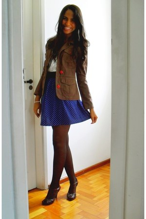 navy Made by my mother skirt - brown Ana Gimenez shoes