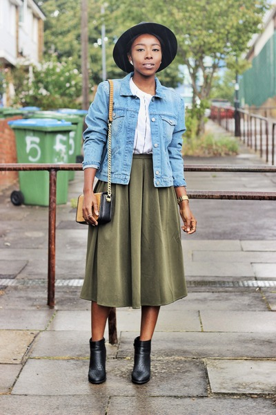 Army Green Pleated Skirt Missguided Skirts, Black Ankle Boots ...