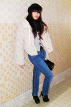 beige 2 coat - silver Zara sweater - black H&M hat - gold H&M accessories - blac