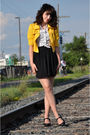 Black-forever21-dress-gold-forever21-jacket-white-h-m-shirt-white-urban-ou