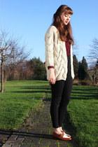 beige sammydress cardigan - tawny Topshop shoes - black Topshop jeans