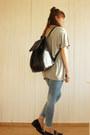 Heather-gray-light-in-the-box-shirt-black-zara-bag-black-zara-loafers