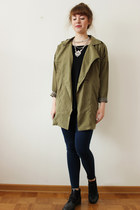 black StyleMoi shirt - dark khaki EliteFashion99 jacket