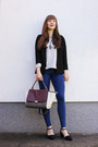 Navy-topshop-jeans-black-lovelyshoes-blazer-magenta-oasap-bag