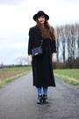 Dark-gray-gil-bret-coat-black-new-chic-bag