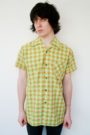 lime green vintage shirt
