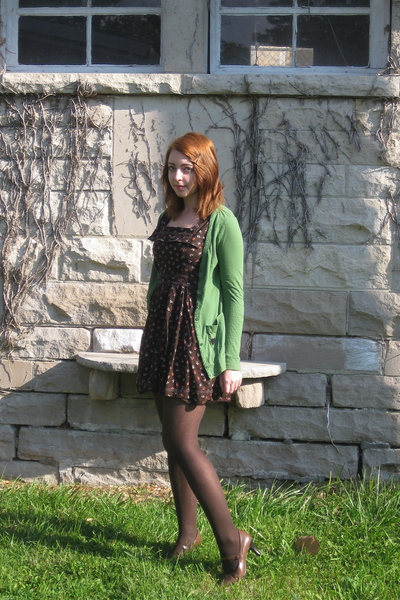 Urban Outfitters dress - Target sweater - Macys tights - liz claiborne shoes