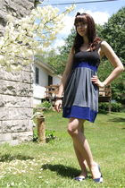 black Urban Outfitters accessories - gray Urban Outfitters dress - blue modcloth