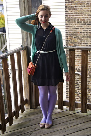 black modcloth dress - periwinkle We Love Colors tights