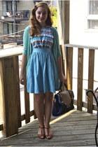 sky blue modcloth dress - neutral laptop case modcloth bag