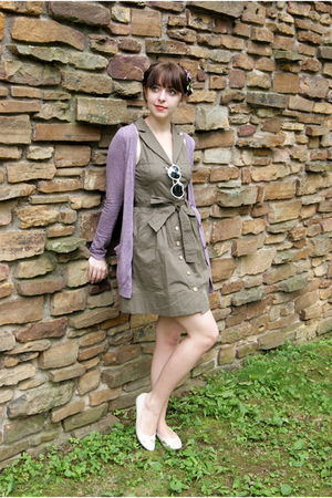 purple Urban Outfitters cardigan - white Urban Outfitters sunglasses - brown pit