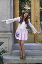 light pink American Apparel skirt - white worn as shirt anthropoligie dress