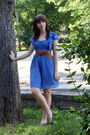 Silver-urban-outfitters-accessories-blue-h-m-dress-brown-wet-seal-belt-blu