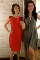 red All Saints dress - silver All Saints dress