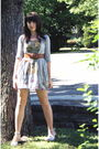 Gray-urban-outfitters-cardigan-gray-wet-seal-dress-brown-wet-seal-belt-whi