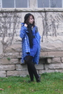 Blue-charlotte-russe-coat-black-forever-21-hat-gray-target-shirt-blue-urba