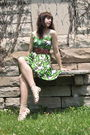 Green-pitaya-dress-brown-cactus-flower-belt-white-gift-from-friend-shirt-b