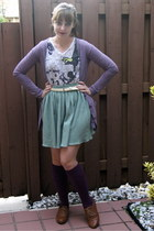 amethyst Urban Outfitters cardigan - white Urban Outfitters shirt - off white mo