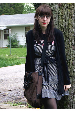 black Urban Outfitters cardigan - black Hot Topic shirt - black Forever 21 dress