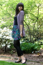 purple Urban Outfitters cardigan - black Urban Outfitters top - blue Urban Outfi