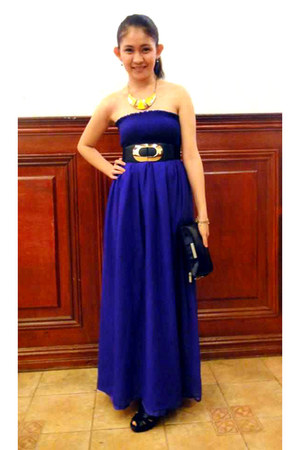 purple chiffon get laud dress - black Marithe Francois Girbaud purse