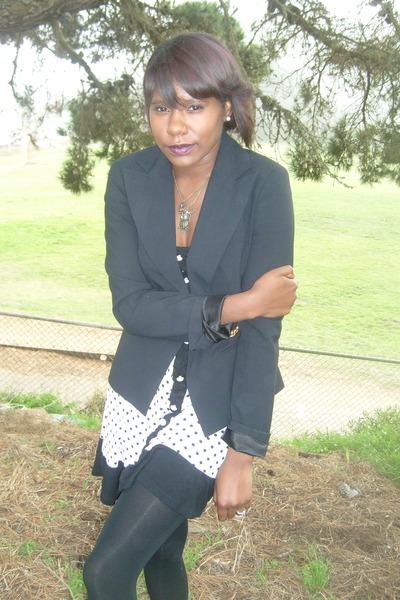 black Boston Proper blazer - pink monteau dress
