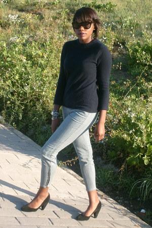 J Crew sweater - striped Joes Jeans jeans