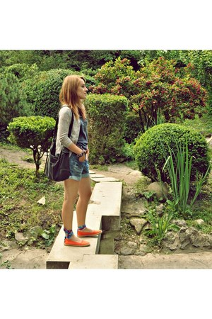 blue hydee jeans - carrot orange orange Keds shoes - Bershka blazer