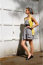 silver madewell dress - black Target shoes - black belt - gold banana republic c
