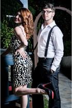 black leather Christian Louboutin pumps - dress