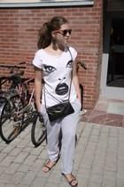 t-shirt - purse - pants - shoes - sunglasses