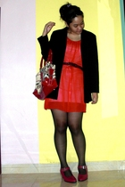 ITC Kuningan dress - joinus blazer - custom made shoes - sox gallery stockings -