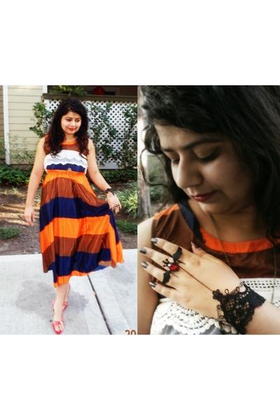 coco-fashion dress - lace bornprettystore scarf - lace bornprettystore bracelet