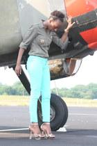 mint GoJane jeans - Iris shirt - Cupid heels