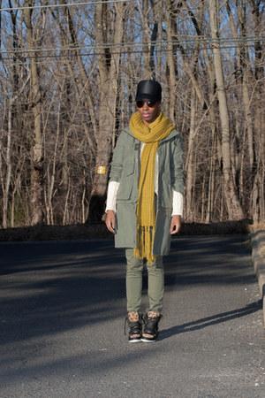 Forever 21 scarf - Bleifrei jacket - Ralph Lauren sweater