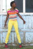 yellow Celebrity Pink jeans - multicolored Charlotte Russe top