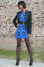 Black-newlook-blazer-newlook-dress-black-guess-shoes-black-miss-selfridges