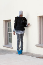 Cupid boots - black 31 philip lim sweater - leopard print Patrizia Pepe pants